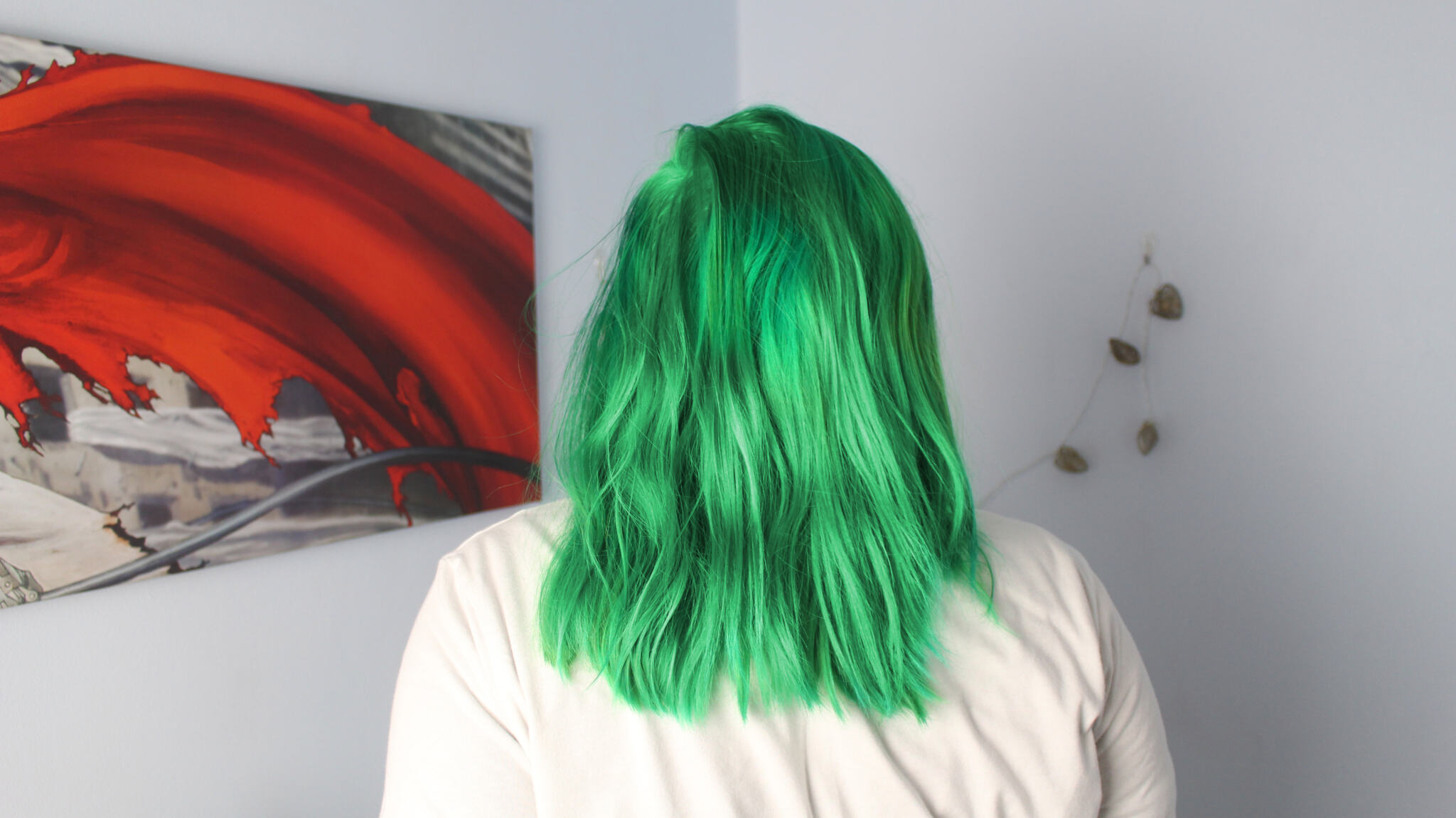 La Riche Directions Apple Green Hair Dye on Holly Stockport